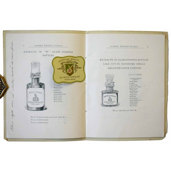 Alfred Wright Perfumer. Trade Price-List.