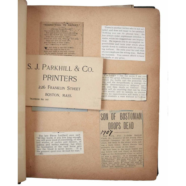 Late 19th - Early 20th Century Printer's Scrapbook.