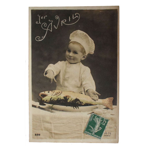 "Five French ""Poisson d'Avril"" Postcards"