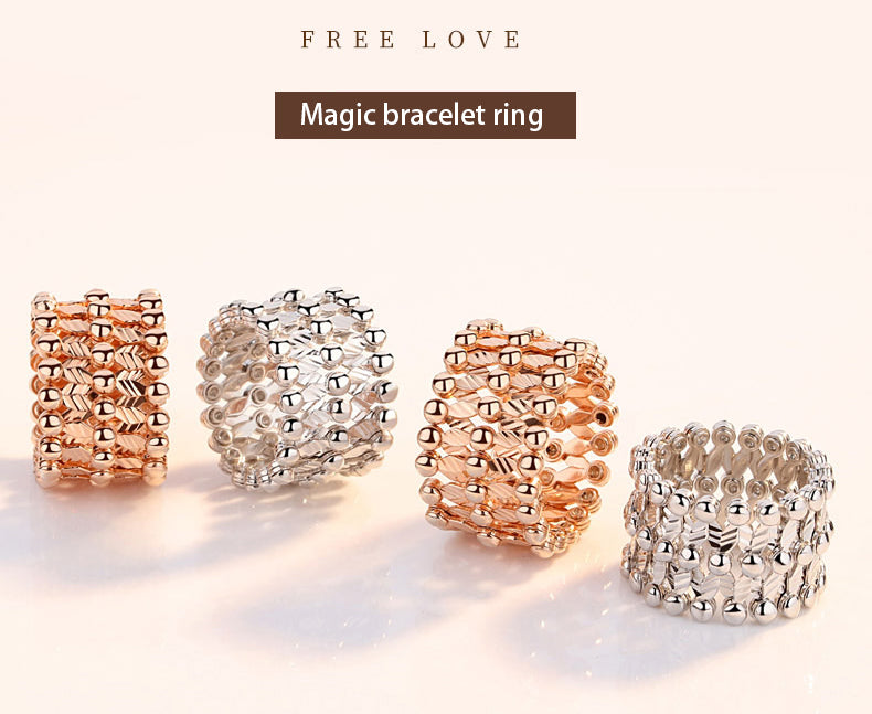 "Magic bracelet ring and 100 languages ""I LOVE YOU"" Necklace"