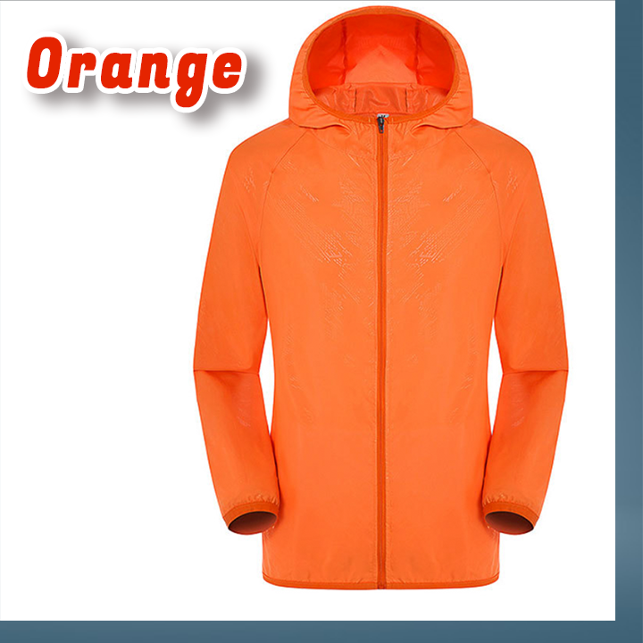 Unisex Rain Jacket Packable Outdoor Ultra-Light Waterproof Hooded Pullover Raincoat