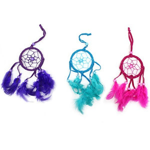Small Bali Dream Catcher, Pink, Purple, Turquoise