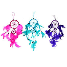 Load image into Gallery viewer, Medium Bali Dream Catcher, Pink, Purple, Turquoise