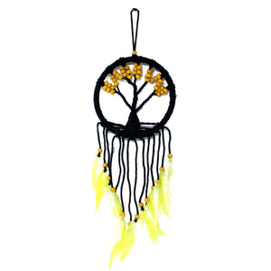 Yellow Large Tree Of Life Dream Catcher