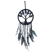 Load image into Gallery viewer, Black Large Tree Of Life Dream Catcher