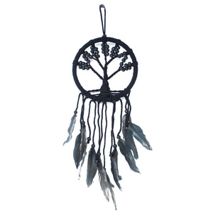 Black Large Tree Of Life Dream Catcher