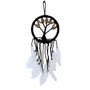 White Large Tree Of Life Dream Catcher