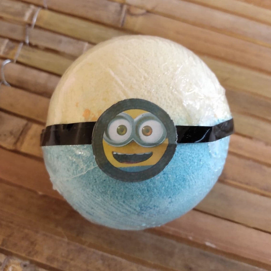 Minions Inspired Bath Bomb With Surprise Minions Minifigure Inside and a Bubblegum Fragrance.