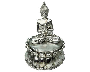 Silver Colour Thai Buddha Trinket Jewellery Box, Gift Box