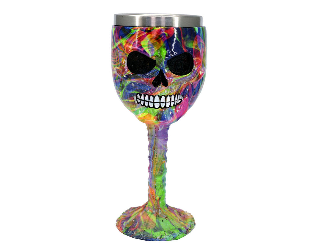 Multi Colour Skull Face Goblet