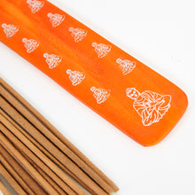 Load image into Gallery viewer, Orange Buddha Incense Holder image 2