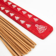 Load image into Gallery viewer, Red Buddha, Natural, Eco Friendly Incense Holder / Incense Burner Ash Catcher + 20 Free Vegan Friendly Incense Sticks