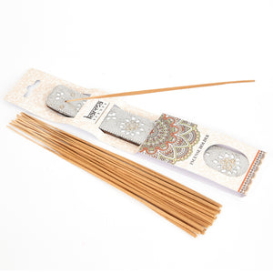 Silver Glitter Coloured Karma Incense Holder image 1