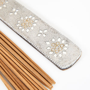 Silver Glitter Coloured Karma Incense Holder image 3