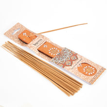 Load image into Gallery viewer, Orange Glitter Coloured Karma Mango Incense Holder image 1
