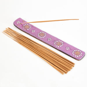 Purple Glitter Coloured Karma Incense Holder image 2