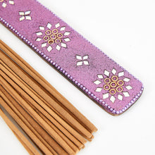 Load image into Gallery viewer, Purple Glitter Coloured Karma Incense Holder image 3