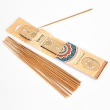 Load image into Gallery viewer, Yellow Glitter Coloured Karma, Mango Wood Incense Holder image 1