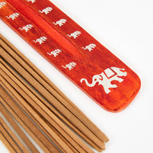 Load image into Gallery viewer, Orange Elephant Print Incense Holder image 2