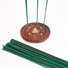 Load image into Gallery viewer, Sitting Buddha Mango Wood 4 Hole Disc Incense Holder image 3