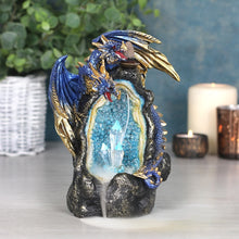 Load image into Gallery viewer, Glowing Blue Dragon Cave LED Light Up Backflow Incense Burner, 12 Free Backflow Incense Cones