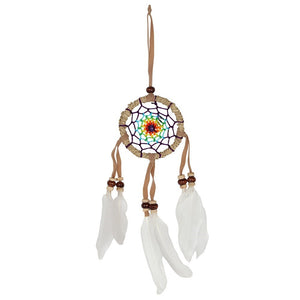 Multicolour Dreamcatcher With White Feathers