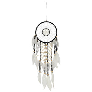 Black & White Dreamcatcher With Natural Beads