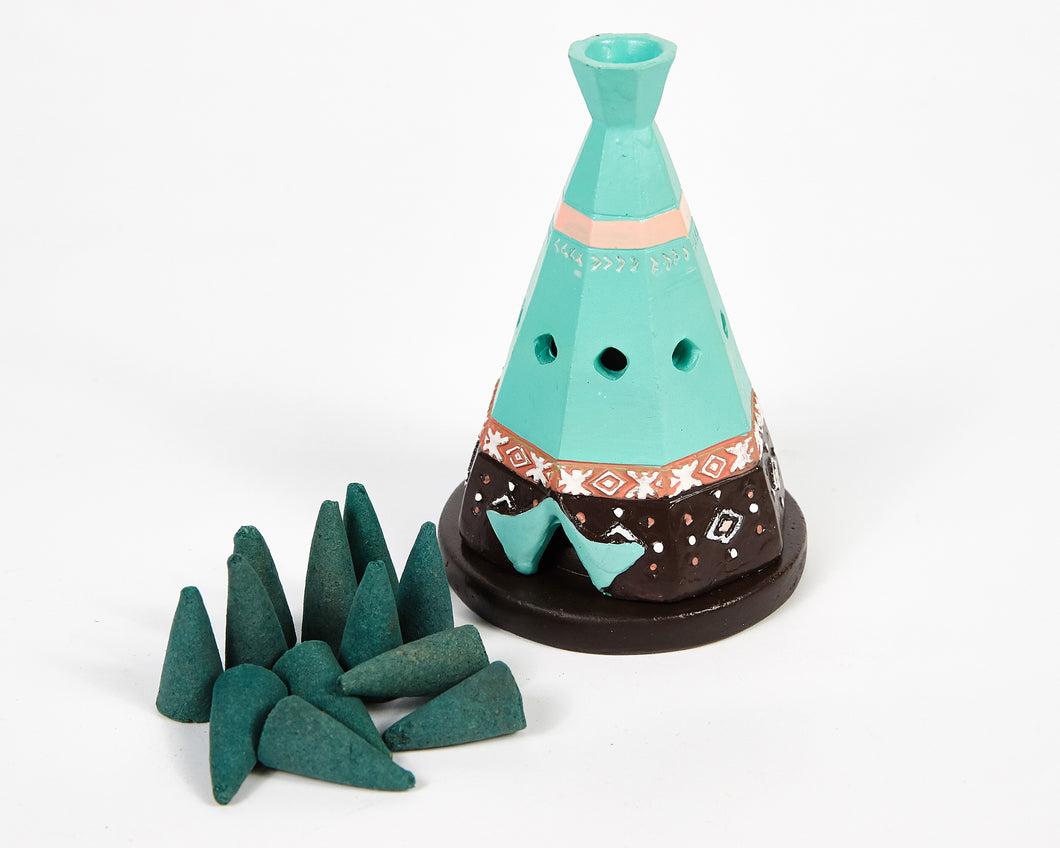 Boho Teepee Incense Cone Holder image 1