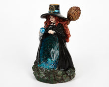 Load image into Gallery viewer, Blue Light Up Witch & Crystal Cave Backflow Incense Burner image 3