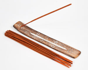 Star Symbol Mango Wood Incense Holder image 1