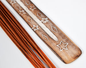Star Symbol Mango Wood Incense Holder image 2