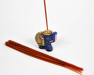 Blue Mini Elephant Incense Holder image 5
