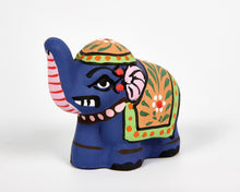 Load image into Gallery viewer, Blue Mini Elephant Incense Holder image 2