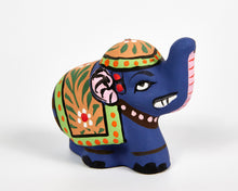 Load image into Gallery viewer, Blue Mini Elephant Incense Holder image 3