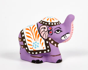 Purple Mini Elephant Incense Holder image 2