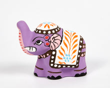 Load image into Gallery viewer, Purple Mini Elephant Incense Holder image 3