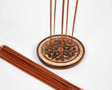 Load image into Gallery viewer, Hand Carved Pentagram 5 Hole Round Incense Stick & Cone Holder image 3
