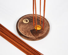 Load image into Gallery viewer, Yin & Yang Round Wood 4 Hole Disc Incense Holder image 2