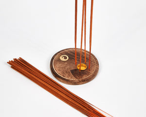 Yin & Yang Round Wood 4 Hole Disc Incense Holder image 3