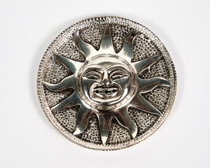 Sun Round Plate Aluminium Incense Holder image 2