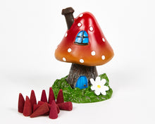 Load image into Gallery viewer, Red Toadstool House Incense Burner image 1