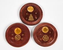Load image into Gallery viewer, Small Pentagram Mango Wood Incense Holder image 2