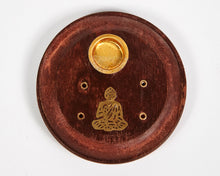 Load image into Gallery viewer, Small Buddha Mango Wood Incense Holder image 1