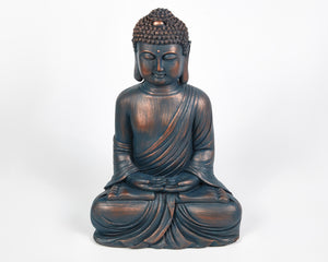 Buddha Statue, Blue Hands In Lap Sitting Buddha, Buddha Ornament, Indian Statue, Indian Art, Buddhist Home decor, home presents, home gifts