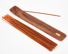 Load image into Gallery viewer, Sheesham Indian Rosewood Incense Holder / Incense Burner Ash Catcher With 20 Free Vegan Friendly Incense Sticks