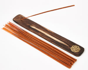 Orange Incense Holder Esscents Flower image 2