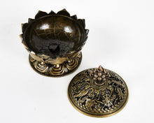 Load image into Gallery viewer, Brass Lotus Incense Burner image 3