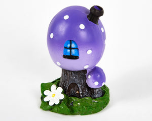 Purple Toadstool House Incense Burner image 1