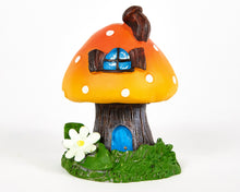 Load image into Gallery viewer, Orange Toadstool House Incense Burner, with 12 Free Incense Cones, Incense Cone Burner, Incense Holder
