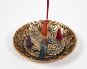 Hand Of Hamsa Copper Incense Holder Plate image 5